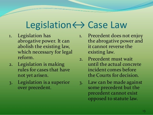 what is the relationship between common law and statute