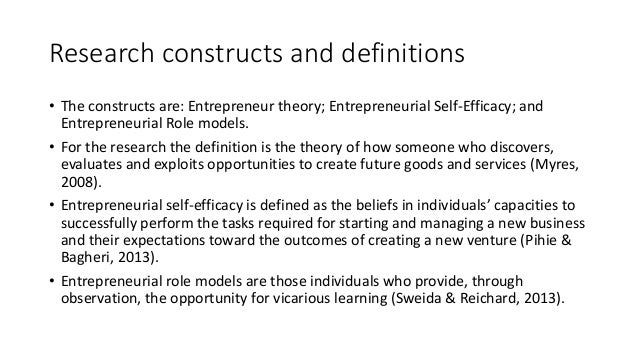 entrepreneurial intentions the influence of self efficacy commerce essay An important aspect of entrepreneurship in business is entrepreneurial self-efficacy self-efficacy has been commonly related to performance the term entrepreneurial self-efficacy (ese) is an important construct researchers have concentrated on the perspective that entrepreneurial self-efficacy should emphasize on individuals' perceptions regarding their ability to perform entrepreneurial tasks (kickul & barbosa 2007) or the skills required to launch a new venture (sequeira.