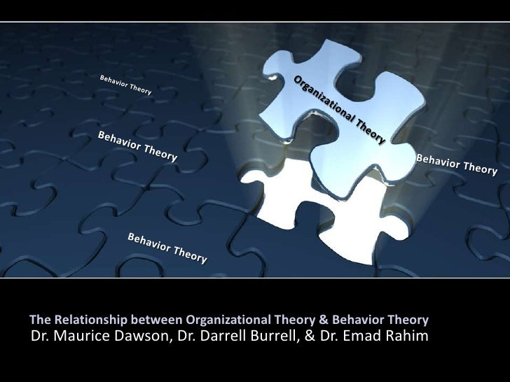 The Relationship between Organizational Theory & Behavior Theory<br />Behavior Theory<br />Organizational Theory<br />Beha...