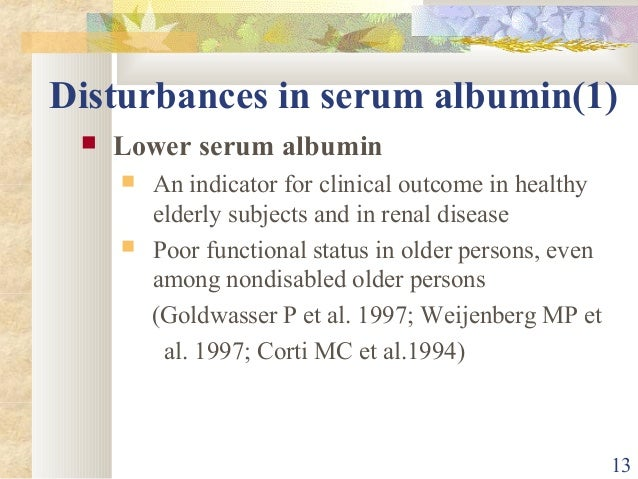 relationship between pre albumin and levels