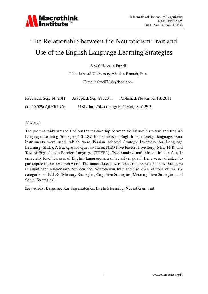 International Journal of Linguistics                                                                                 ISSN ...