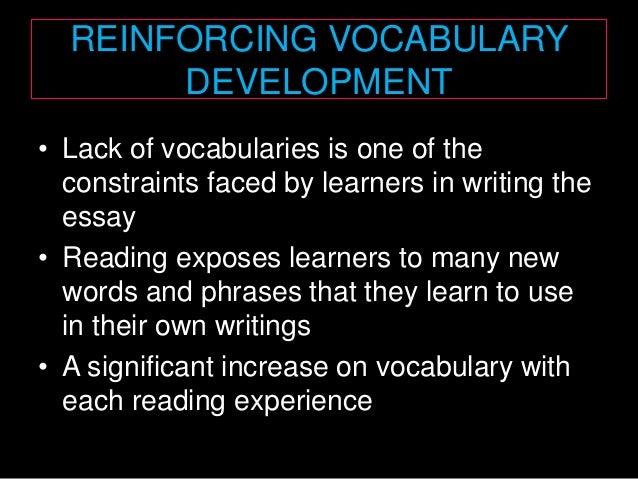 vocabulary development essay