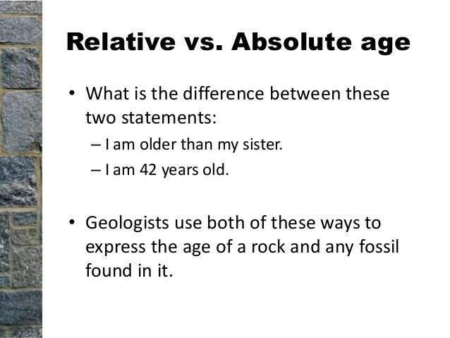 Slit Dating Absolute Between Relative Difference Fossils And fit