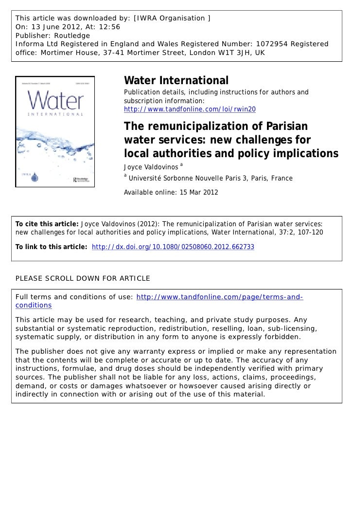 This article was downloaded by: [IWRA Organisation ]On: 13 June 2012, At: 12:56Publisher: RoutledgeInforma Ltd Registered ...