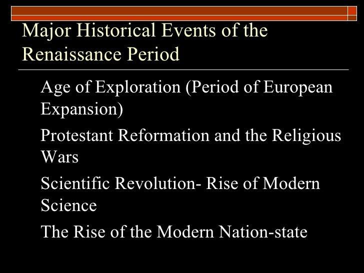 Renaissance reformation scientific revolution