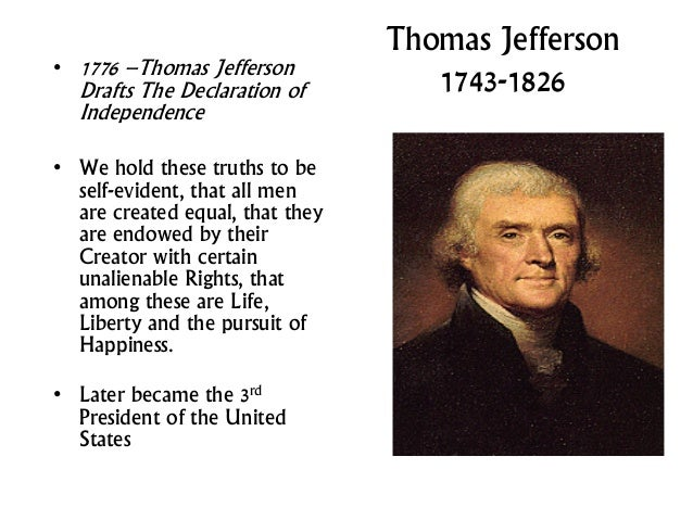 thomas jefferson had good faith in the constitution when it was drafted In a rented room not far from the state house, he wrote the declaration with few books and pamphlets beside him, except for a copy of george mason's virginia declaration of rights and the draft virginia constitution, which jefferson had written himself.