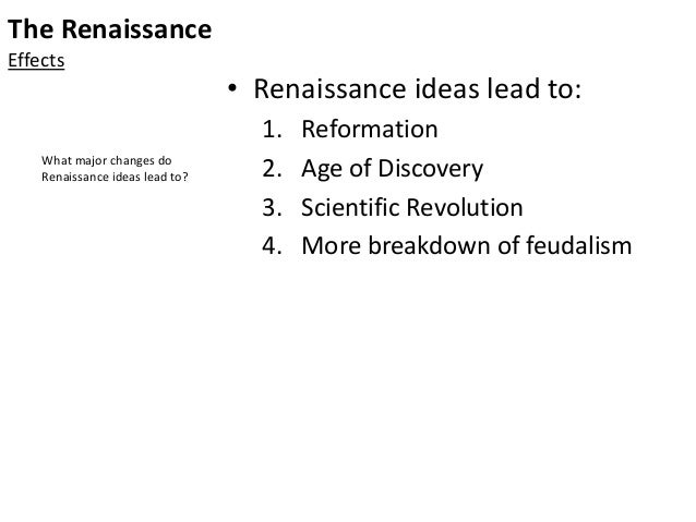 The Renaissance – why it changed the world