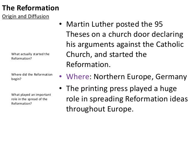causes of the reformation The causes of the reformation (abuses in the church) a named religious reformer: martin luther (people in history) another reformer (john calvin.