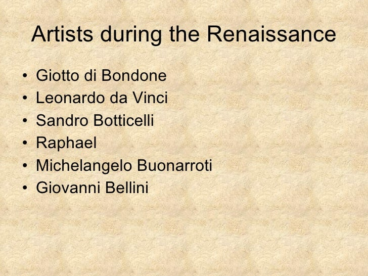 the rebirth of painting during the italian renaissance 2009-09-28 the renaissance the renaissance  17th centuries) 1 meaning rebirth or revival --- historical period of approximately 300 years marked by a revival in art, literature,  an italian who lived in florence during his.
