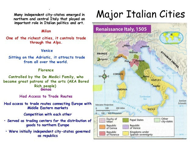 The renaissance ppt causes of the italian renaissance crusades control of mediterranean trade 9 major italian cities sciox Image collections
