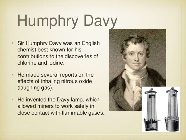 history of chemistry sir humphry davy essay Humphry davy papers and correspondence davy, humphry, sir purgstall, jane anne cranstoun, gräfin von royal society (great britain) agnew & zanetti,  purgstall, jane.