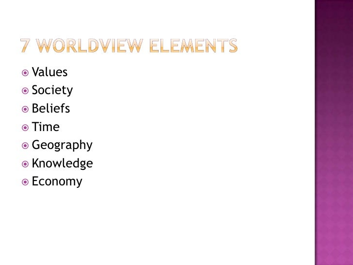 elements of a worldview What is a worldview cl ment vidal center leo aopstel free university of brussels krijgskundestraat 33, 1160 brussels, belgium way to understand as many elements of our experience as possible9 back to the fundamental questions in this.