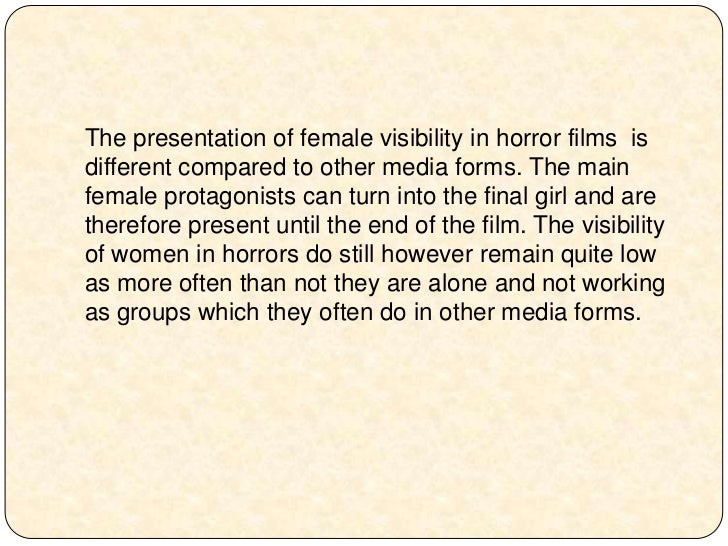 the representations of gender in horror films essay <br > 5