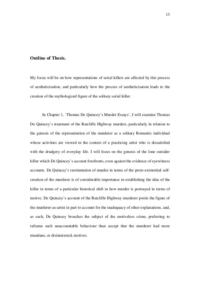 High School Narrative Essay  Examples Of Thesis Statements For Argumentative Essays also Process Paper Essay The Representations Of Serial Killers Good High School Essay Examples