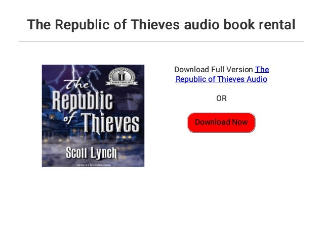 The Republic Of Thieves Audio Book Rental
