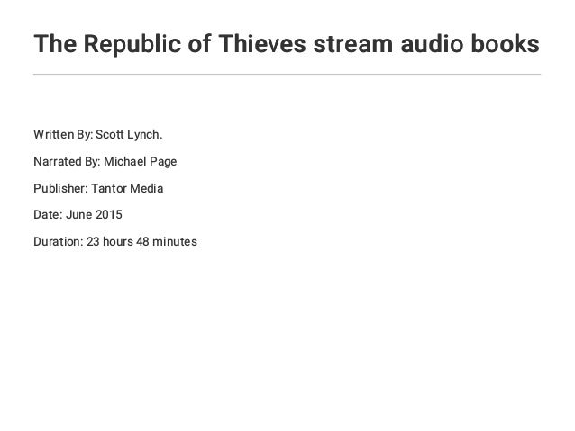The Republic Of Thieves Stream Audio Books