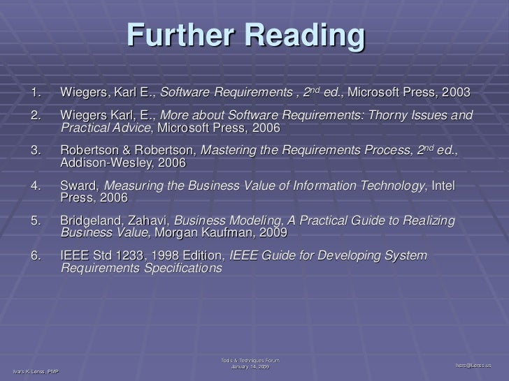 Software requirements 2: karl wiegers: amazon. Com: books.