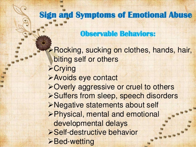 7 signs of mental abuse