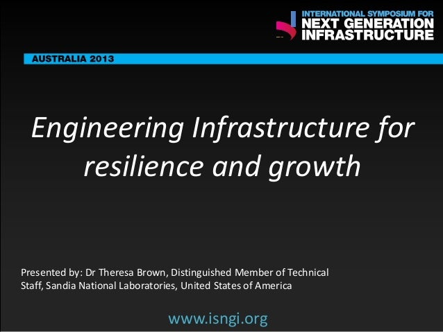ENDORSING PARTNERS  Engineering Infrastructure for resilience and growth  The following are confirmed contributors to the ...