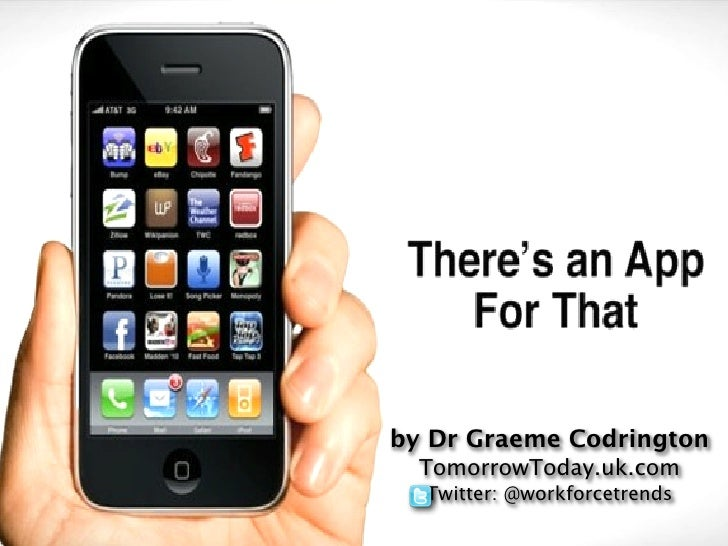 by Dr Graeme Codrington  TomorrowToday.uk.com  Twitter: @workforcetrends
