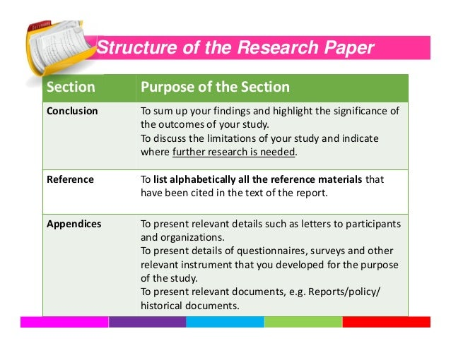 purpose of a conclusion in a research paper A statement of purpose is a sentence that you write, which states, in some detail, what you want to learn about in your research project.