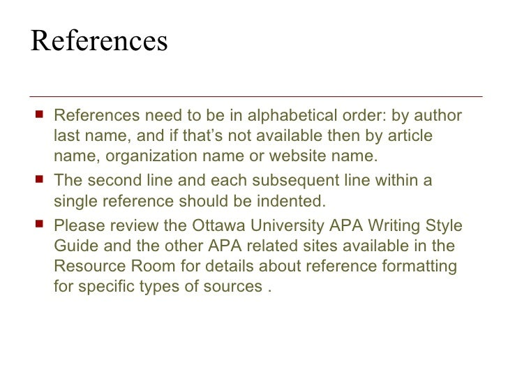 how to write a reference list for a research paper