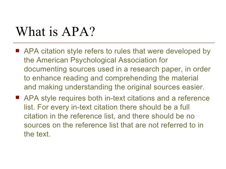 the research paper and citation methodology 4 what is apa