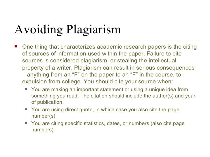 the research paper and citation methodology  5 avoiding plagiarism