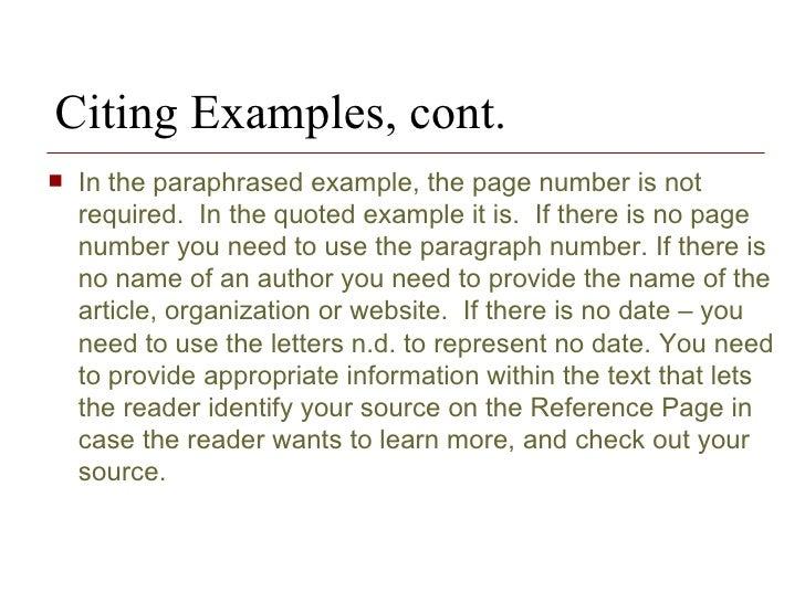 citation example in essays