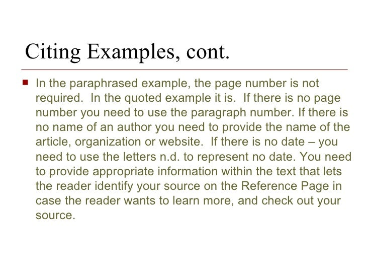 citing sources in a research paper This is the mla page of the how to cite - guide to citing sources in your research paper guide alternate page for screenreader users skip to page navigation.