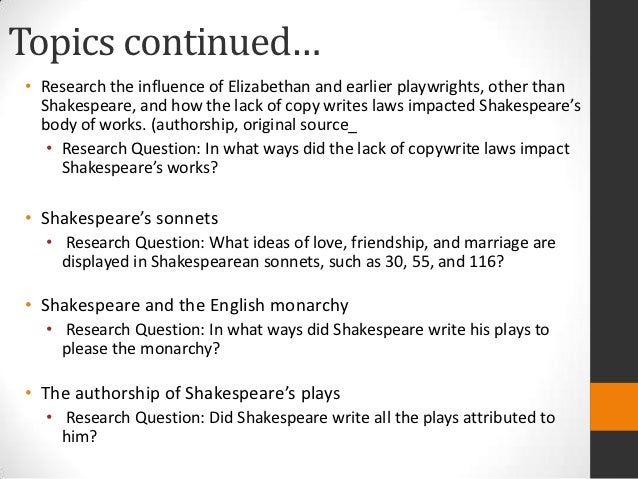 Theatre topics for research paper