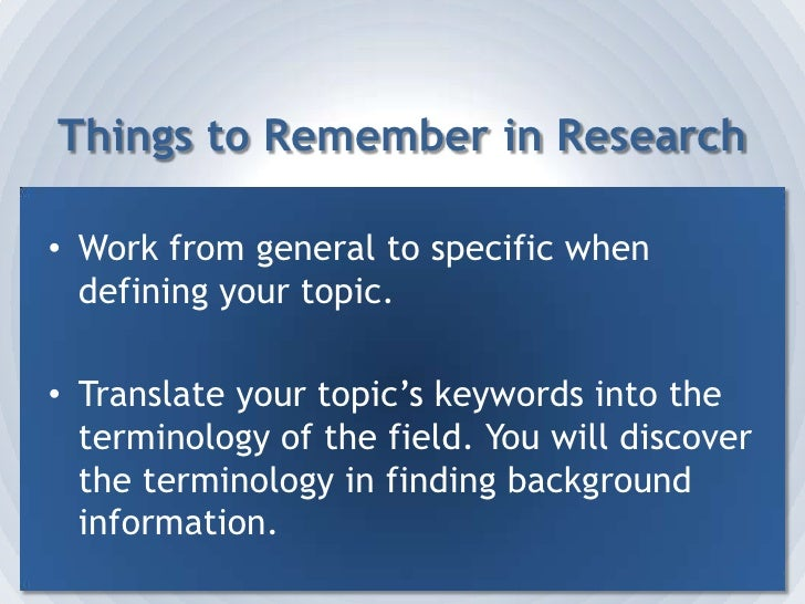 Electronic databases.</li></li></ul><li>Step 4:  Collect Your Information<br />Research your topic.<br />Take notes.<br />...