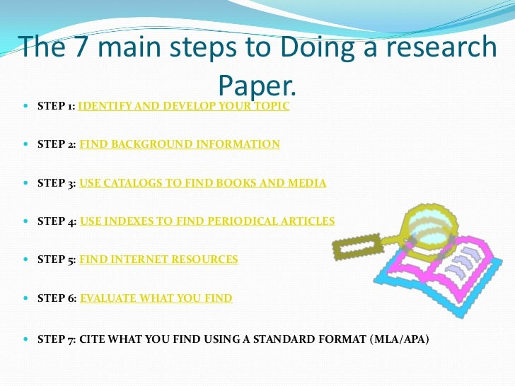 12 step research paper Read an excerpt from the book applied research and evaluation methods in recreation, by diane c blankenship, and learn about the various steps of the scientific research process.
