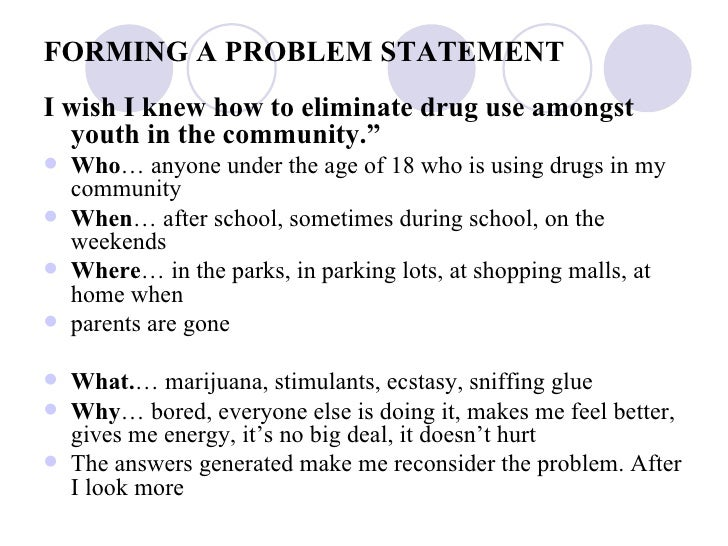 Sample of community health nursing problem statement