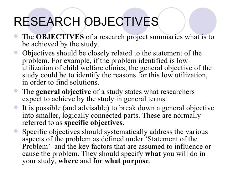 thesis objectives of the study Thesis writing guidelines chapter 1  of your study for a thesis, include research questions to be answered and/or hypotheses  • is the objective specific .