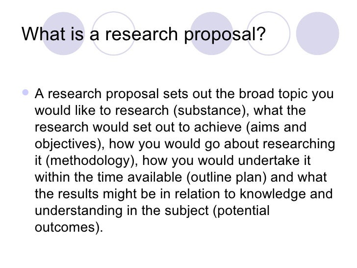 Basic research proposal slideshare?