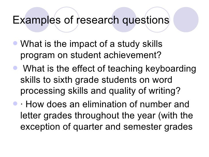 Organizing Academic Research Papers: The Research Problem/Question