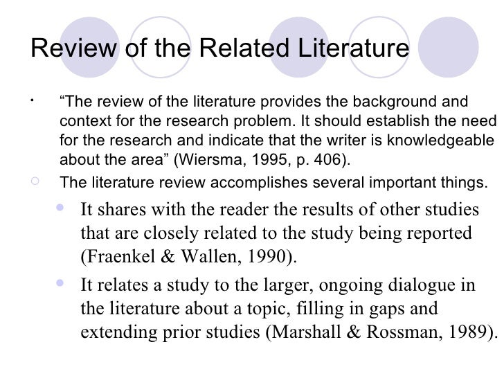 Writing review of related literature ppt