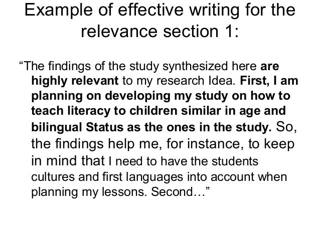 Examples of case study research findings linked to communication.