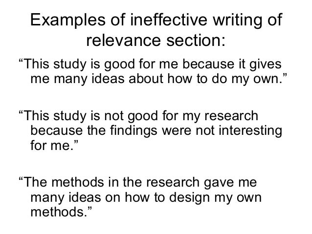ineffective writing examples