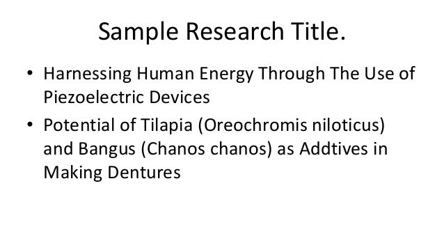 sample research title