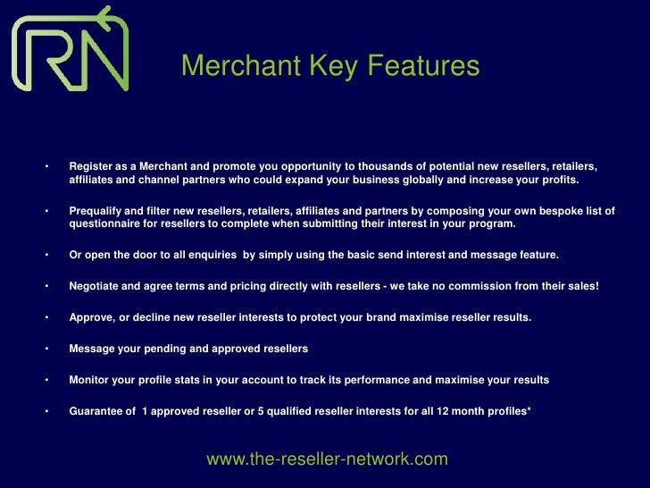 The Reseller Network Merchant Proposition