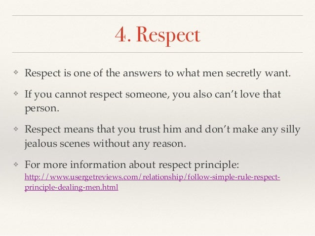 what is the respect principle
