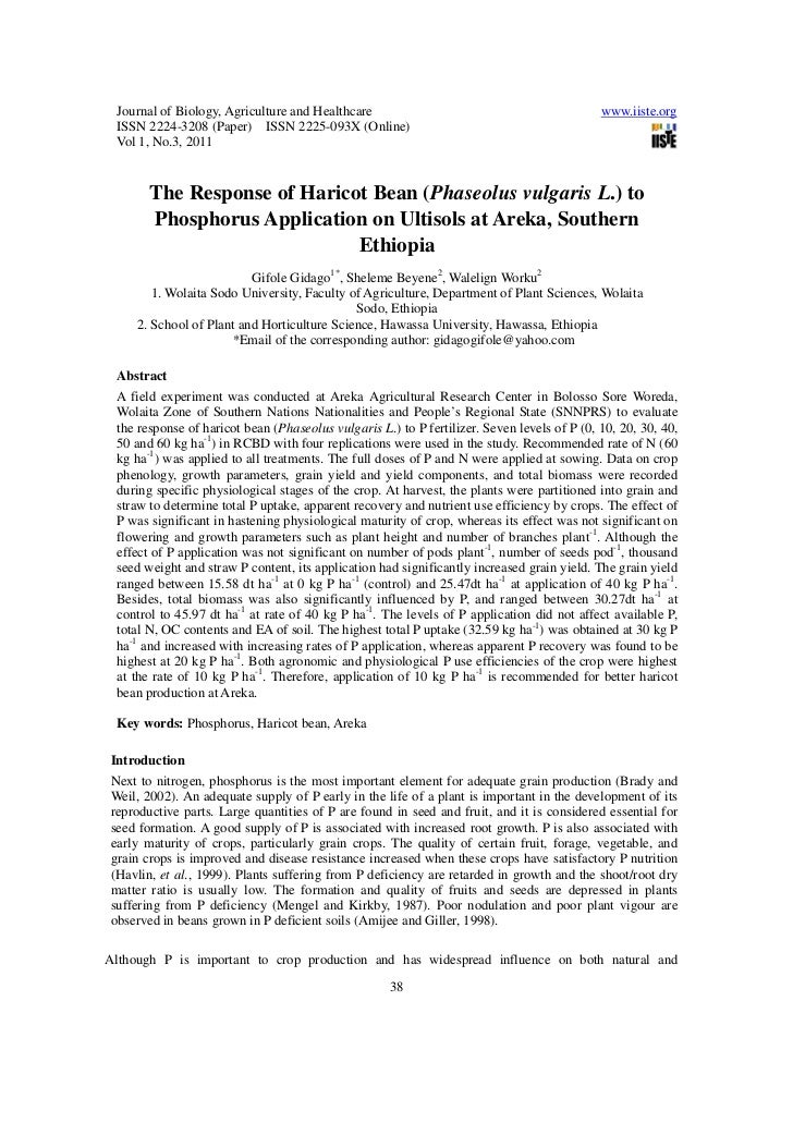 Journal of Biology, Agriculture and Healthcare                                              www.iiste.org ISSN 2224-3208 (...