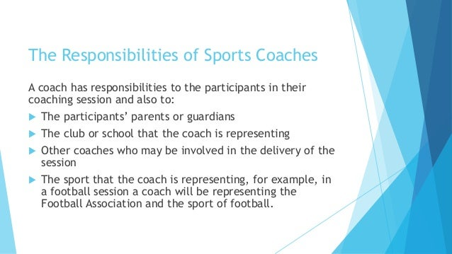 what are the responsibilities of a coach