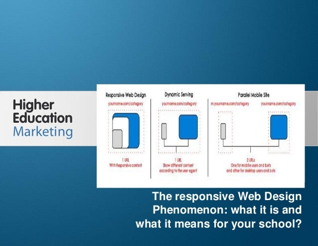 The Responsive Web Design Phenomenon: What it is and what it means for higher ed  The responsive Web Design Phenomenon: wh...
