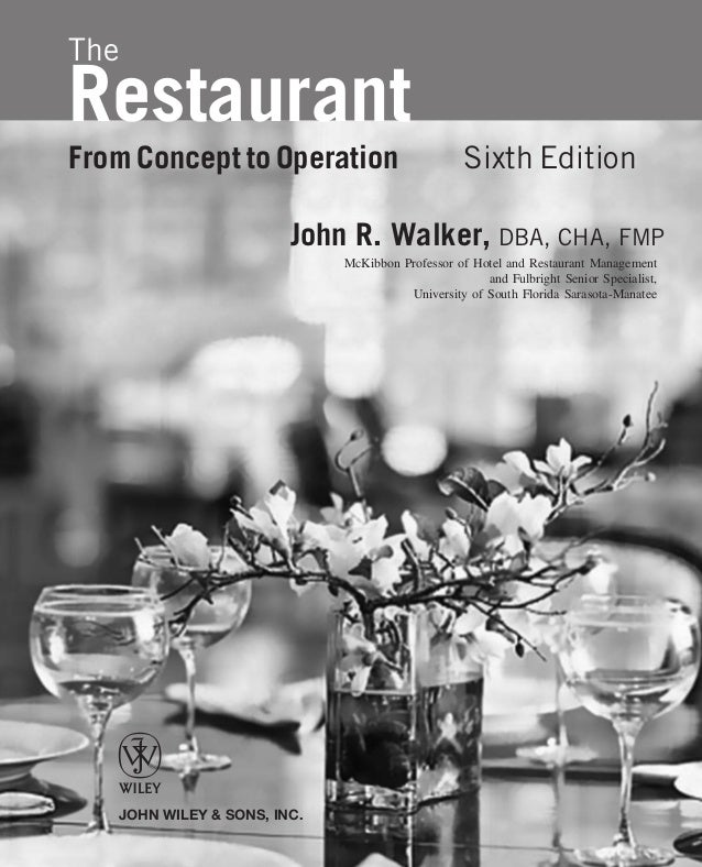 The restaurant from concept to operation 6th walker 3 fandeluxe Gallery