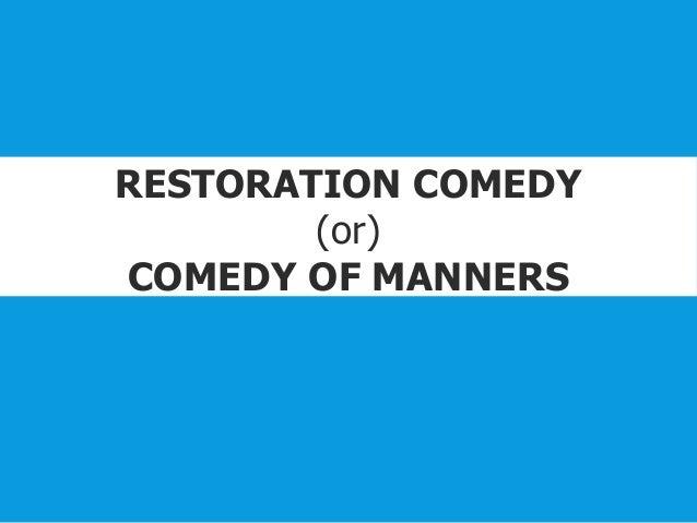 restoration comedy plays