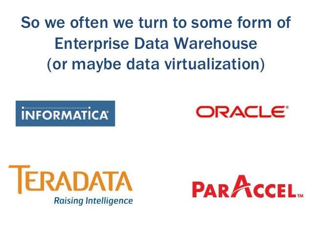 Big data tech sometimes provides a    composite solution (or ETL)