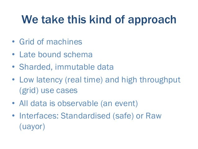 Both Raw & Standardised data is available                    Operational        Relational                  (real time / M...
